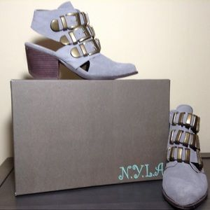 N.Y.L.A Suede Bootie With Buckles
